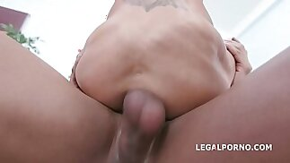 Double Anal Creampie Aletta Black meets BBC with Deep hard Anal, DAP, Gapes, Creampie Swallow