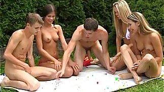Naughty teens playing sex games
