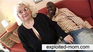 Granny loves black big cock