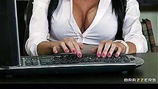 Hot Mean lesbians punish new office secretary with a strap