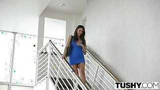 TUSHY Beautiful Natural Brunette Anna Morna Tries Anal