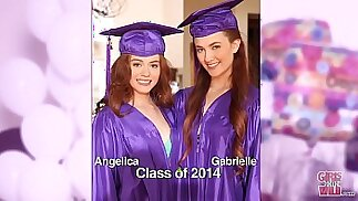 GIRLS GONE WILD Surprise graduation party for teens ends with lesbian sex