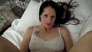 Mom Son Share a Bed Mom Wakes Up to Son Masturbating POV, MILF, Family Sex, Mother Christina Sapphire