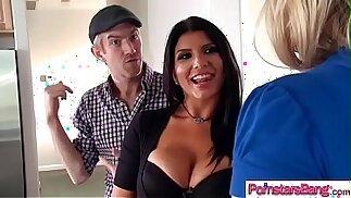 Slut Horny Pornstar Romi Rain Melissa May Love To Ride A Monster Cock On Cam video