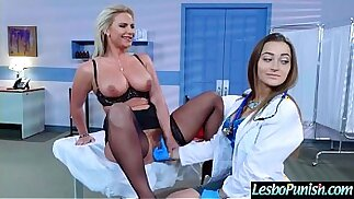 Hot Lez Girl phoenix Get Punish By Mean Lesbo With Dildos clip