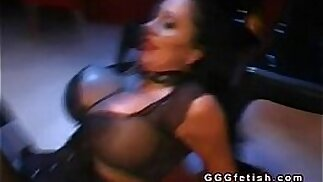 Slut playing with big boobs gets anal fucking