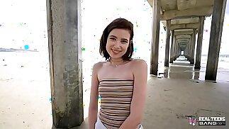 Real Teens Hot Cute Brunette amateur Teen Doing First Porn