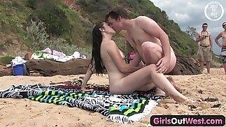 Cutie fucking a stranger at the beach