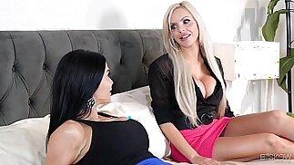 Kinky couple fuck in front of an estate agent Jasmine Jae, Nina Elle at Bskow