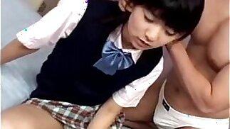 Schoolgirl Saotome gets licked and fucked hard