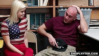 Shoplyfter Girlfriend Madison Hart Fucked By Sleazy Officer and Boyfriend Watches