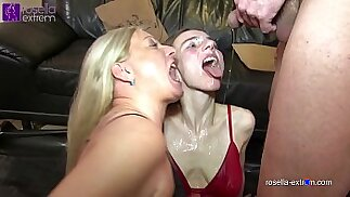 Mega piss orgy! Wives and men piss for Karina and me!